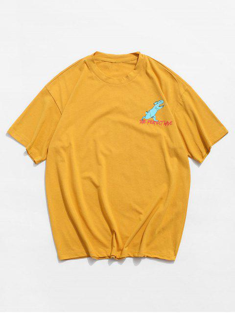 T-Shirt Casuale Grafica di Coniglio - Giallo Ape 3XL Mobile