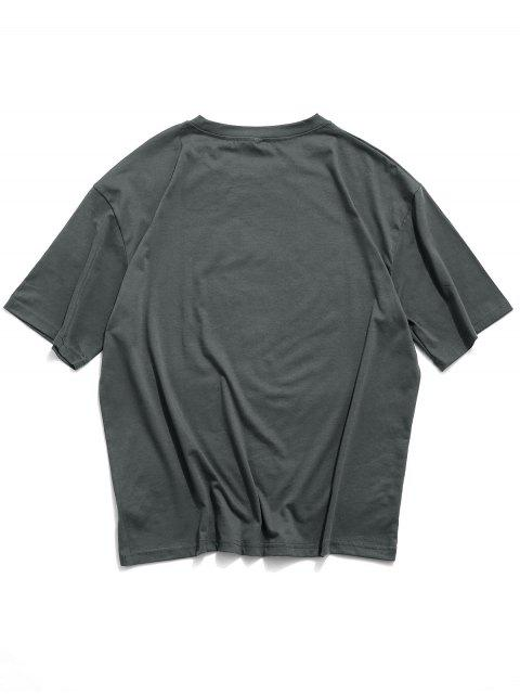 Choke Pepper Graphic Basic T-shirt - أسود 2XL Mobile