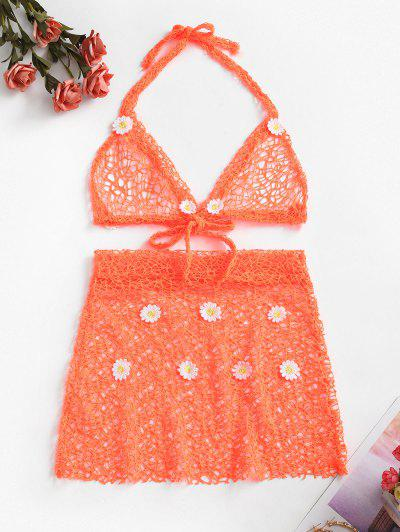 Daisy Applique Lingerie Set
