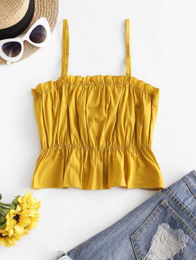Peplum Hem Stitching Cami Top - Saffron L