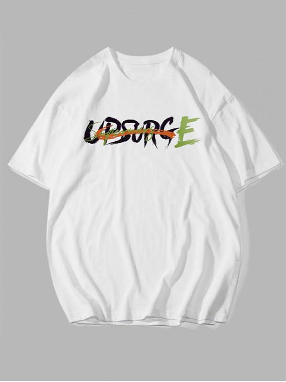 T-shirt de BaseLettreGraphique - Blanc 2XL