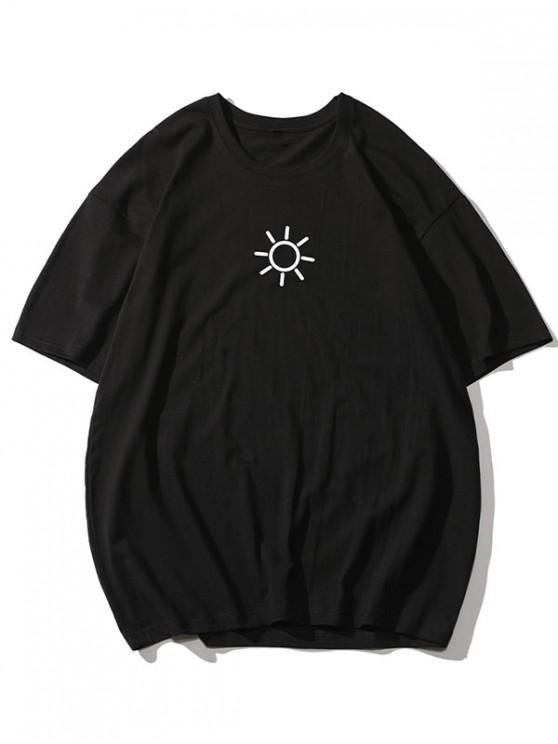 Sun Graphic Basic T-shirt - أسود 4XL