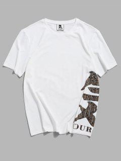 ZAFUL T-shirt De Base Oriental Imprimé - Blanc 2xl