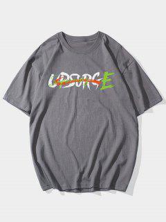 T-shirt De BaseLettreGraphique - Gris Foncé 2xl