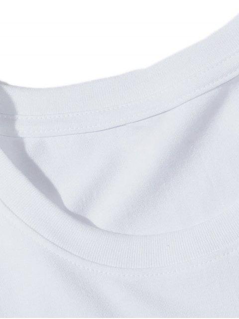 T-Shirt Grafica a Girocollo - Bianca 3XL Mobile