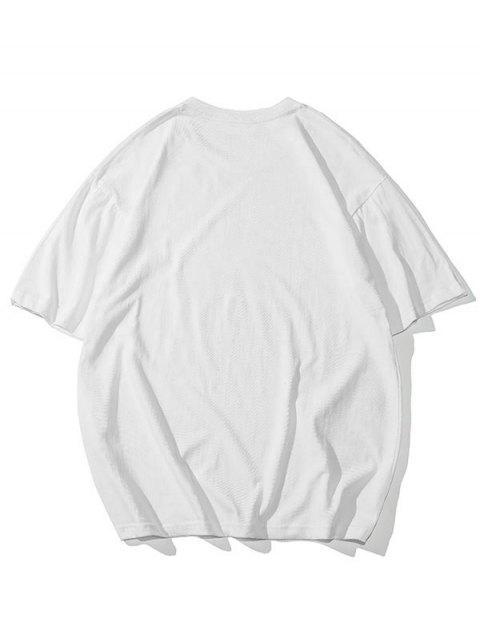 affordable Self Confidence Heart Graphic Basic T Shirt - WHITE 4XL Mobile
