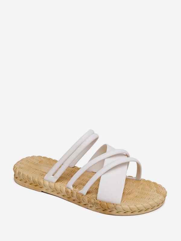 Beach Cross Strap Slides Sandals