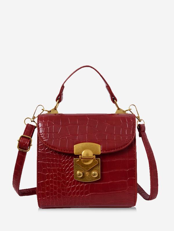 Animal Embossed Top Handle Mini Sling Bag