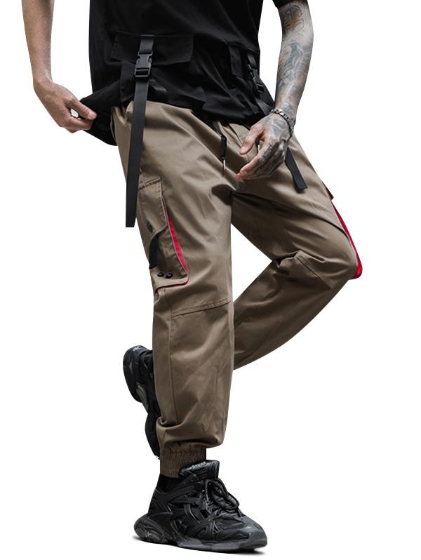 Flap Pockets Drawstring Casual Cargo Pants thumbnail
