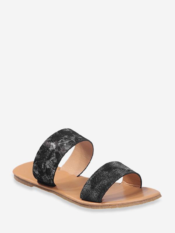 Tie Dye Dual Straps Flat Slides