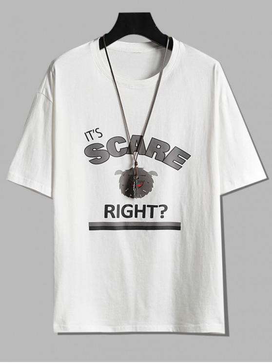 かかった漫画のグラフィック定番Tシャツ - 白 M