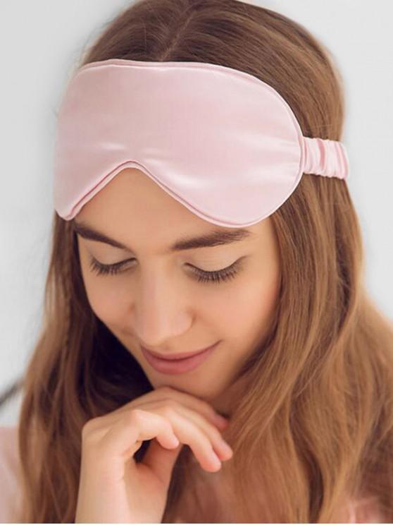 fancy Elastic Strap Blackout Satin Sleep Mask - PINK