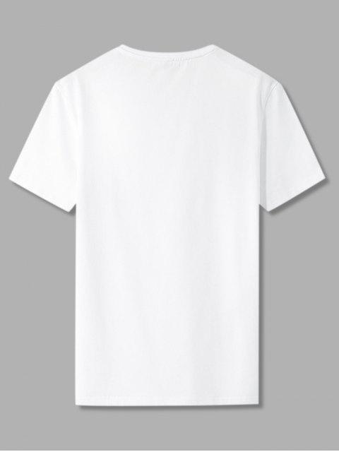 latest Beach Tropical Palm Tree Basic T-shirt - WHITE 2XL Mobile