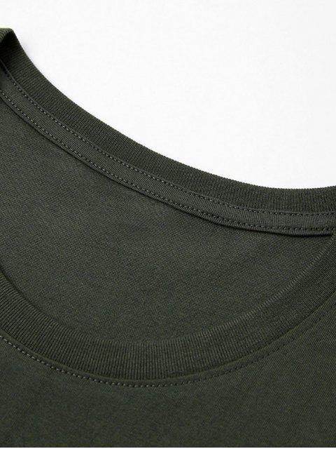 Camiseta de Dama de Sol de Árbol de Palma - Ejercito Verde 2XL Mobile
