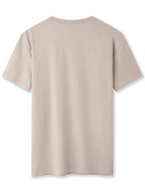 online Upsurge Graphic Print Basic Tee - LIGHT KHAKI 2XL Mobile
