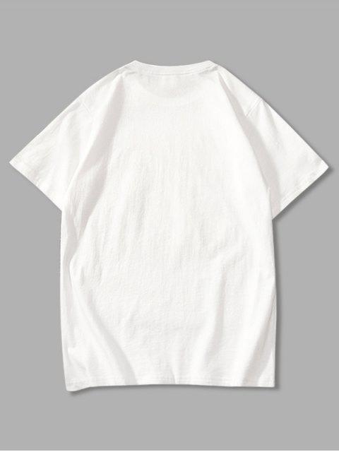 new Cartoon Evil Graphic Basic T-shirt - WHITE 4XL Mobile