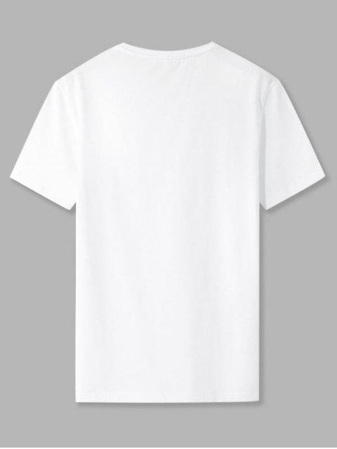 T-Shirt con Grafica di Lettere IT'S YOURS - Bianca 2XL Mobile