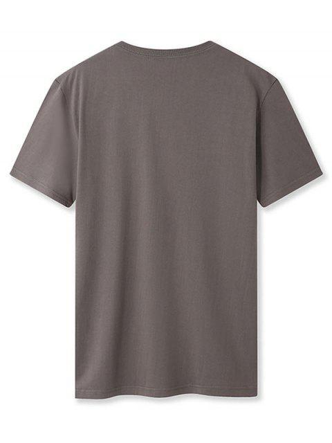 Camiseta Básico - Cinzento Escuro M Mobile