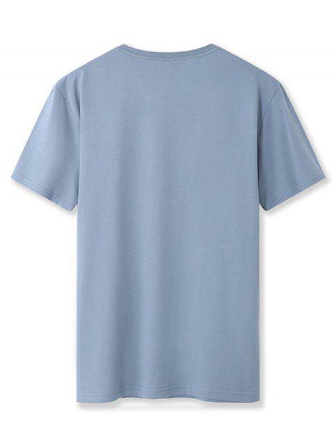 Camiseta Básico - Seda de Azul 2XL Mobile