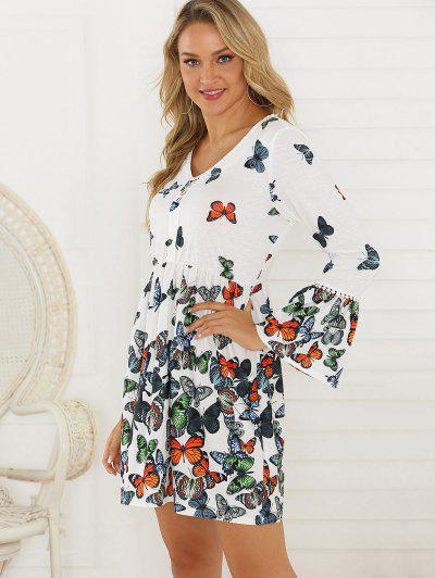 Butterfly Buttoned Front Dress