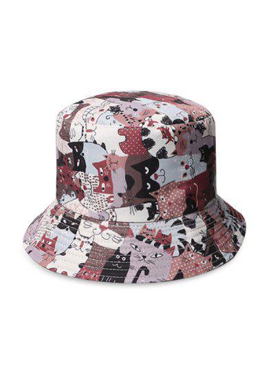 Cat Print Bucket Hat