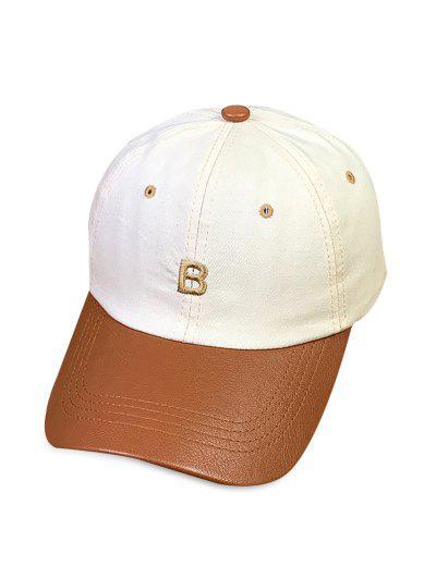 Letter PU Brim Baseball Cap
