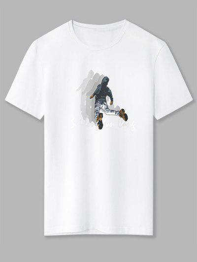 T-Shirt Dos Desenhos Animados Gráfico Dos Desenhos Animados De Camisola Básico - Branco 2xl