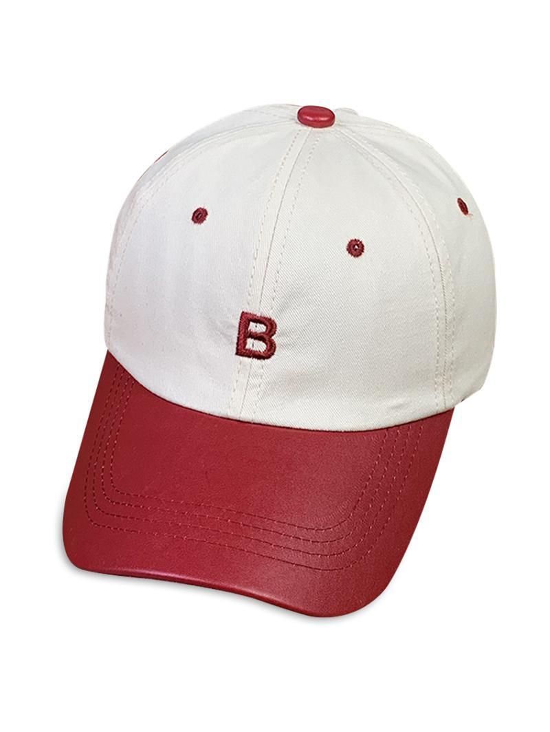 Letter Embroidery PU Brim Baseball Cap