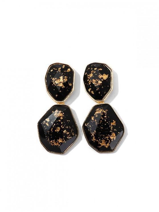 Los pendientes de gota irregular geométrico - Oro