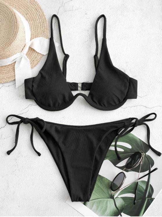 ZAFUL Bikini Badebekleidung mit Seitlichem Bügel - Schwarz M