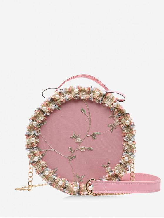 best Floral Lace Crossbody Canteen Bag - PIG PINK