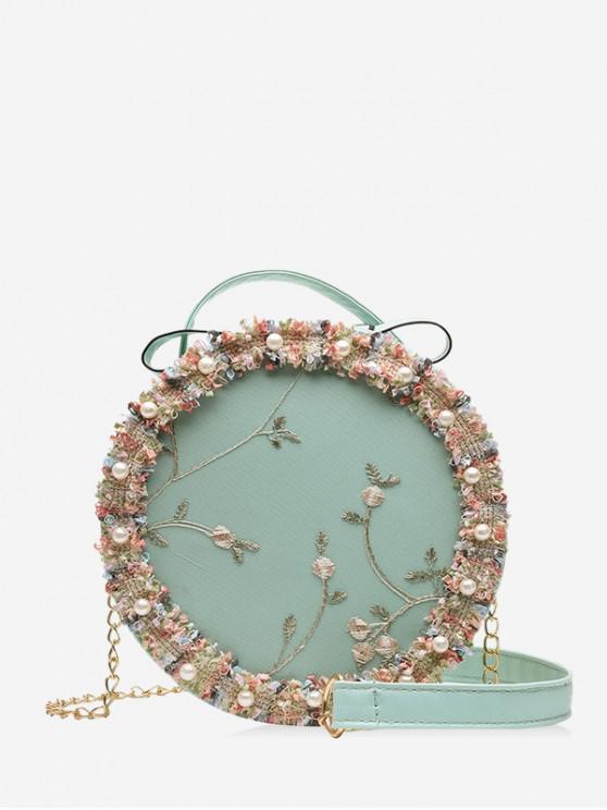 Floral Lace crossbody Cantinei Bag - Pale albastru de crin