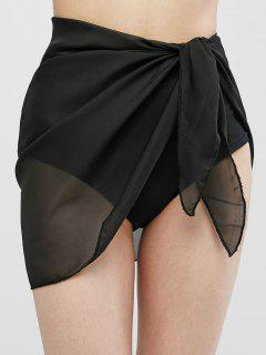 Semi-sheer Sarong - Black