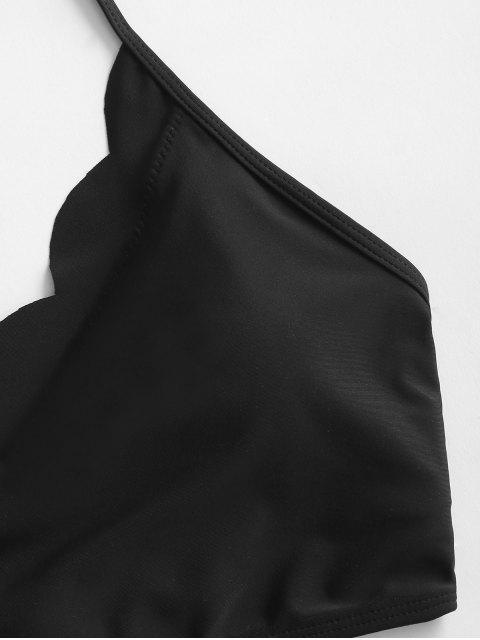 Costume da Bagno Tankini Smerlato Floreale con Lacci di ZAFUL - Multi Colori-B S Mobile