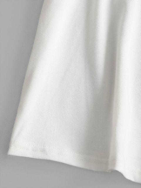 T-shirt a Tunica con Inserti in Pizzo - Bianca S Mobile