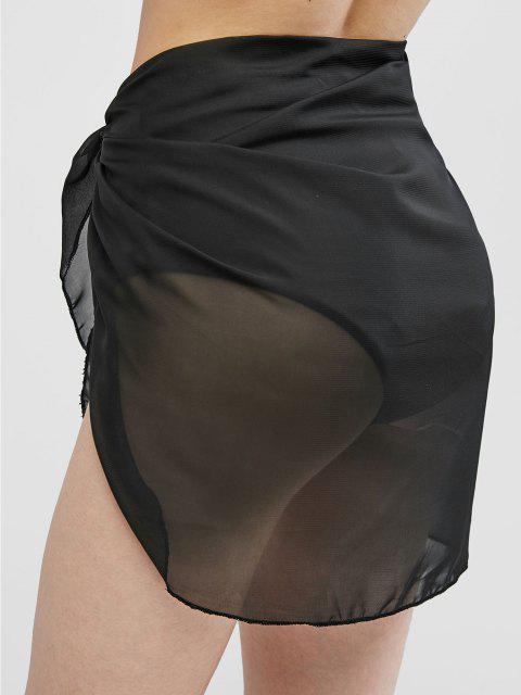 セミ薄手のサロン - ブラック ワンサイズ Mobile