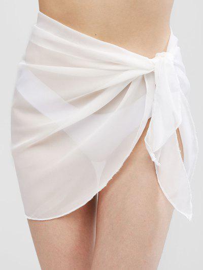 Semi-sheer Sarong - White
