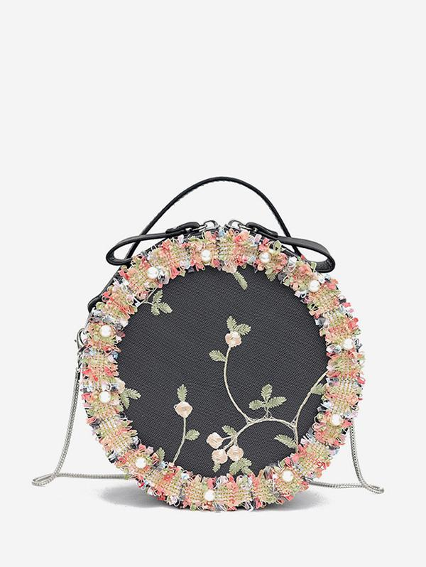 Floral Lace Crossbody Canteen Bag