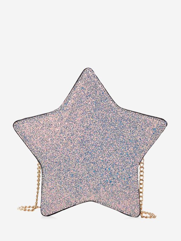 Star Glitter Chain Crossbody Bag
