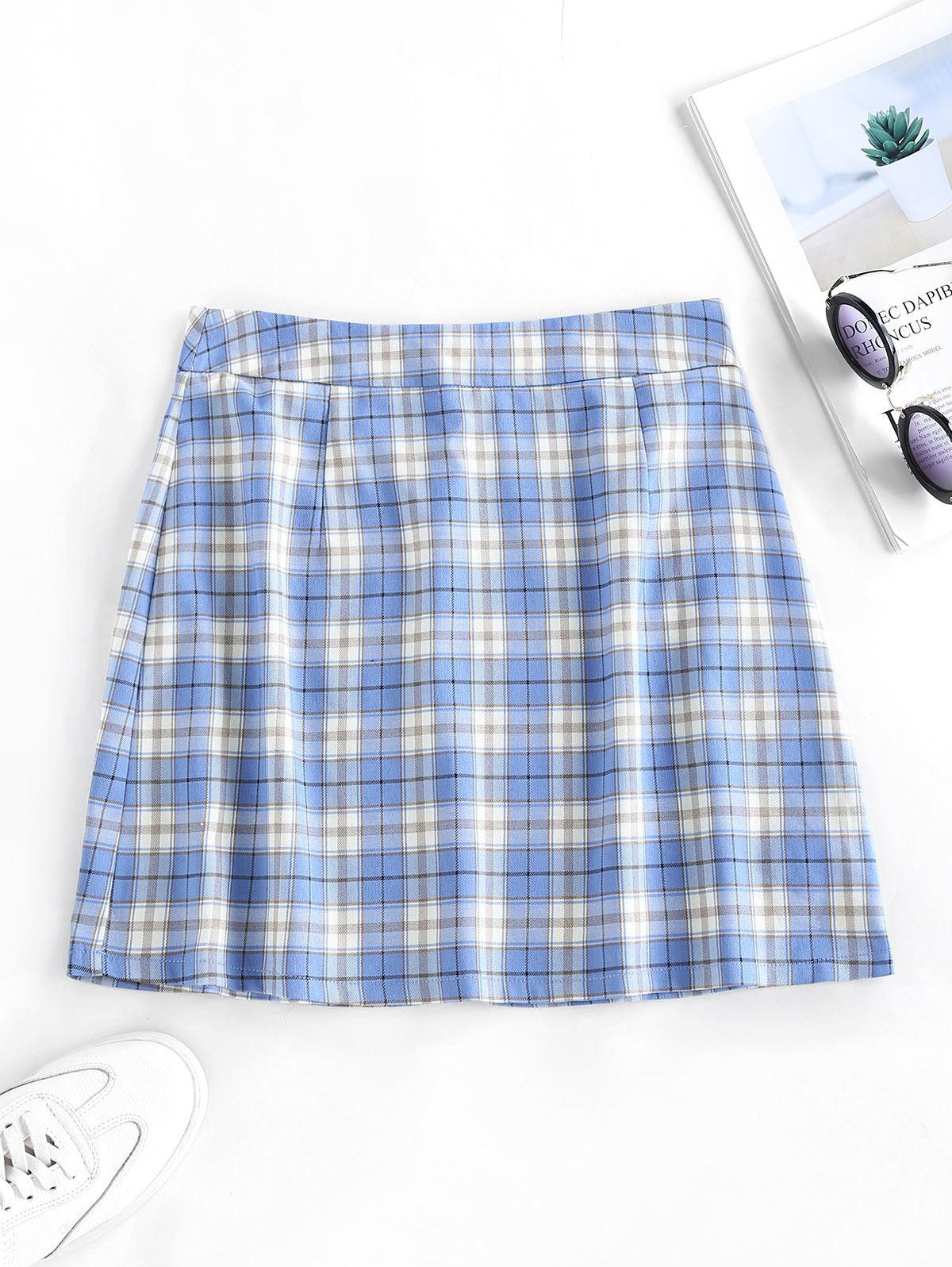 ZAFUL Plaid Mini Skirt