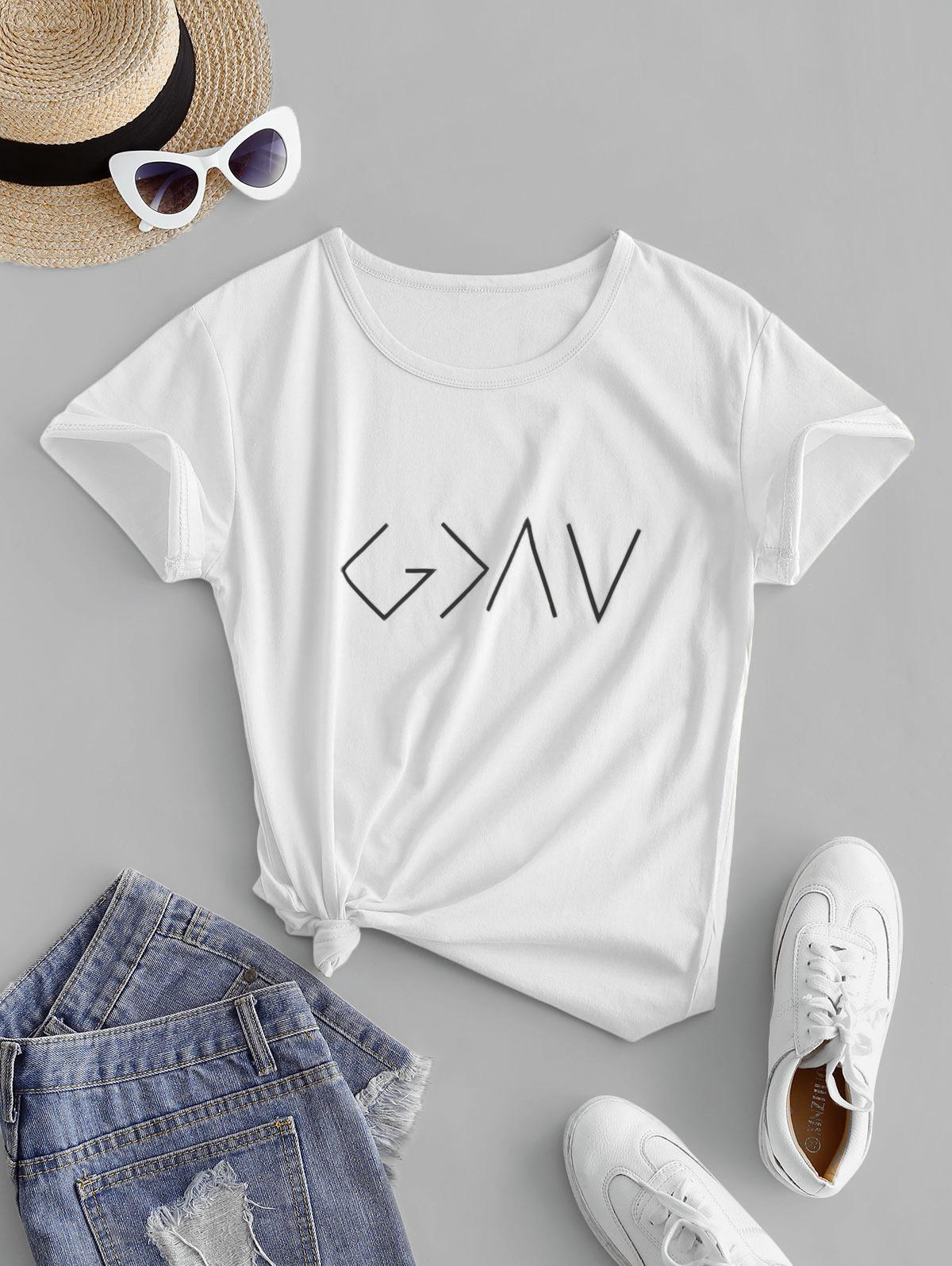 Cotton Graphic Short Sleeves Tee