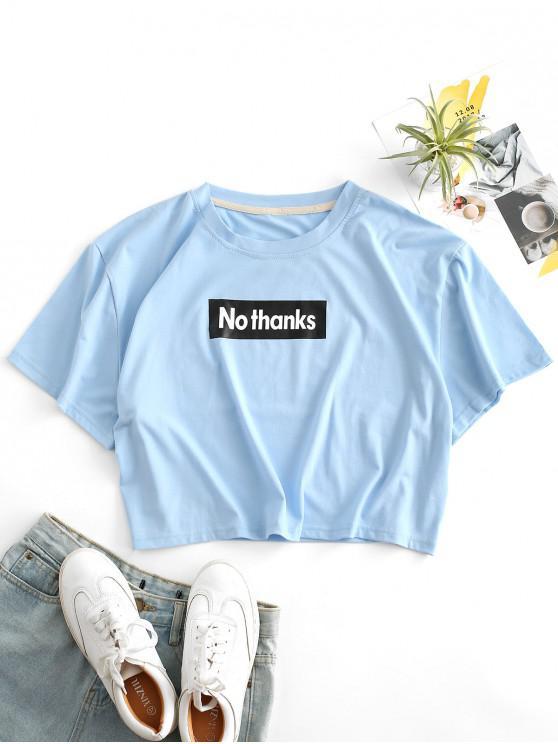 Camiseta emagrecedora de mangas longas - Azul de Céu Claro L