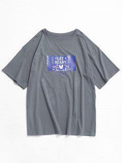 T-shirtdeBaseGraphique à Manches Courtes - Gris Xs