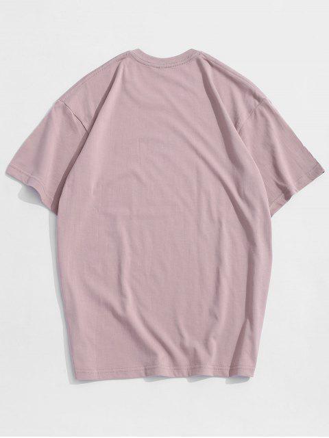 Maglietta a Maniche Corte con Stampa a Mouse Dei Cartoni Animati - Rosa M Mobile