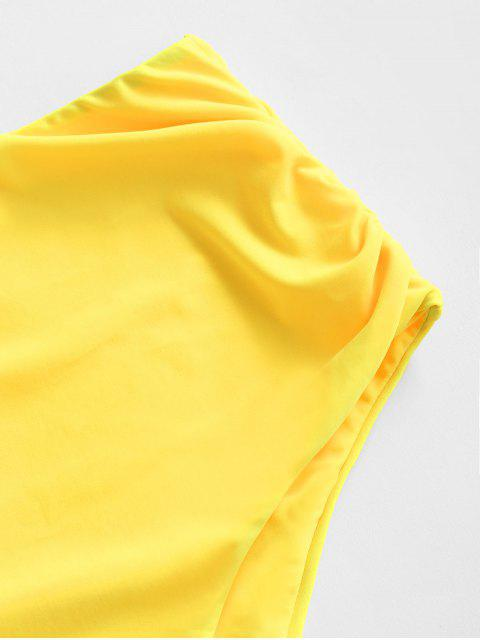 ZAFUL Bas de Bikini Simple - Jaune 2XL Mobile