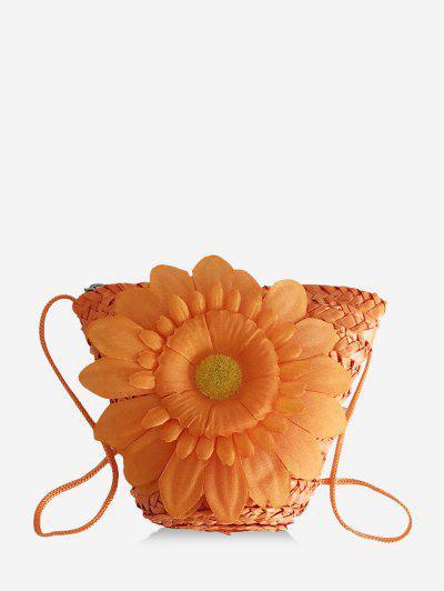 Mini Sac à Bandoulière De Plage Fleur - Orange Mangue