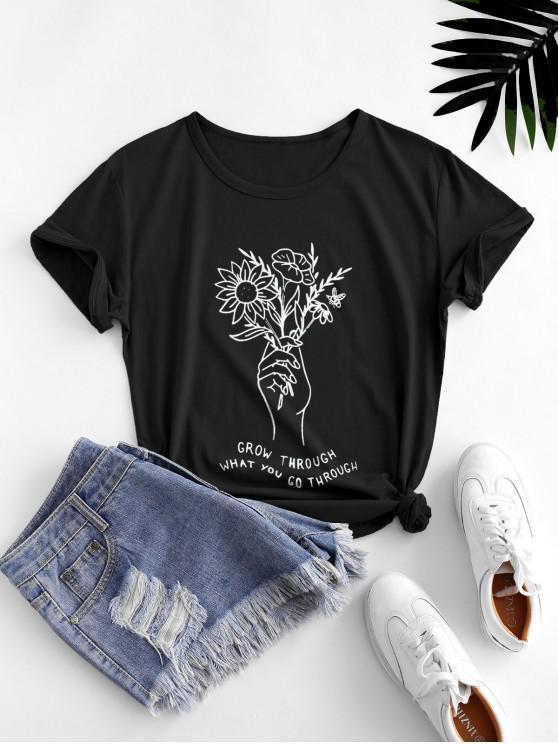 Camiseta emagrecedora de mangas longas com tranpasse de cordão - Preto XL