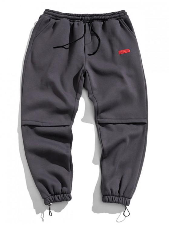 Jogger Pantalones con Diseño de Letras - Gris Oscuro 2XL