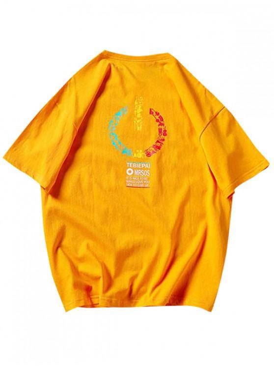 shop Music Instrument Graphic Basic T Shirt - BEE YELLOW S