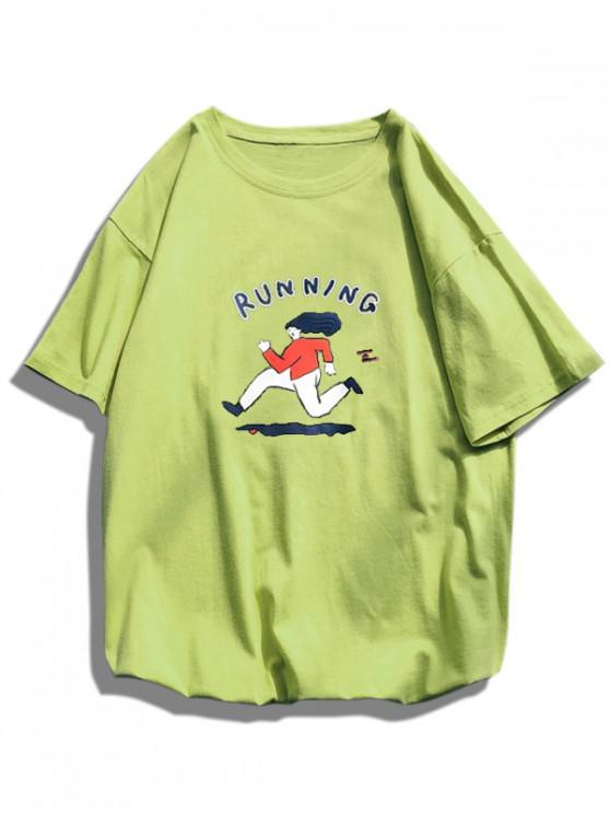 Laufen Grafisches Grundlegendes T-Shirt - Grün L